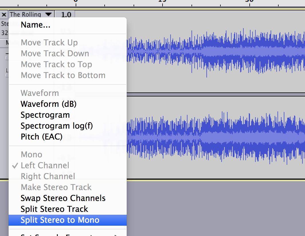 Removing Vocals from a Song in Audacity – The CogDog Show