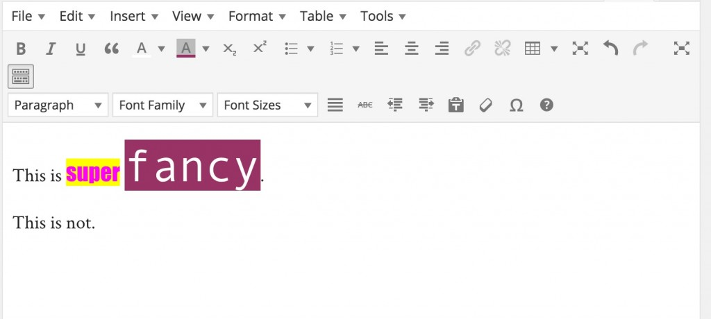 facncy editor