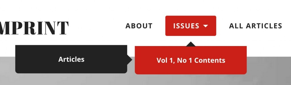 menu items for Table of Contents (red) and the category link to its articles